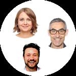 Portraitfoto der Roundtableteilnehmer Henning Richters, Doro Sthamer und Matthias Mehner