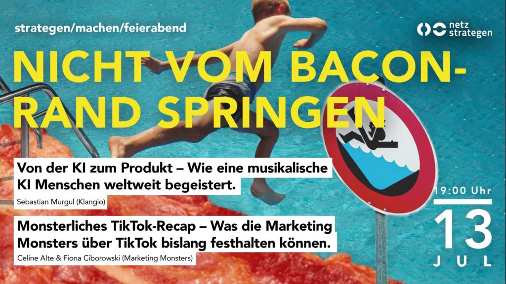 Poster des nmfka Nicht vom Baconrand springen