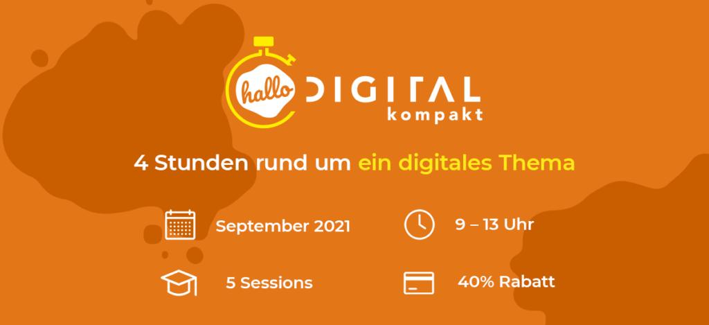Visual hallo.digital Beigabe zu virtuellem Goodiebag der hallo.digital Convention 2021