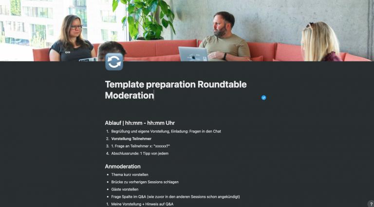 notion template roundtable moderation hallo digital kompakt